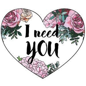 Открытка-валентинка I need you