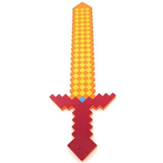 Огненный меч Minecraft