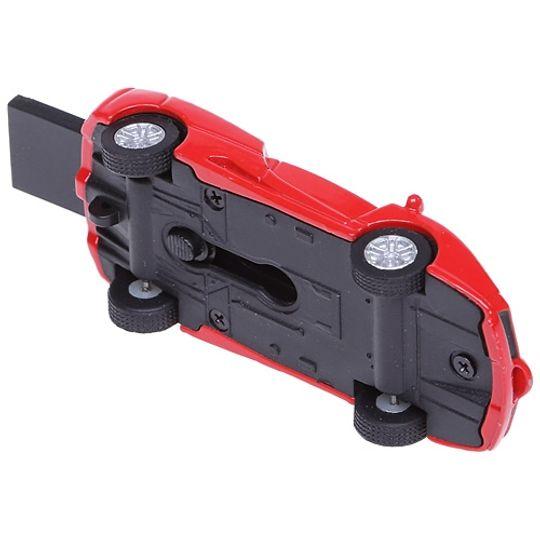 Флешка Ferrari 8 Гб (Красный) Вид снизу, с выдвинутым носителем