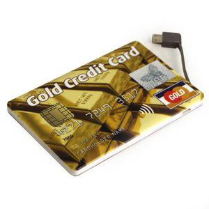 Внешний аккумулятор Power Bank Gold Credit Card