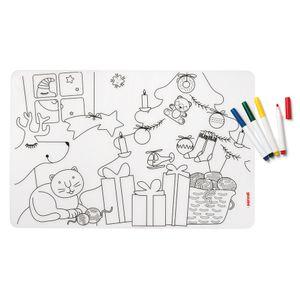 Набор для рисования Bimbi рождество (коврик + 4 маркера)