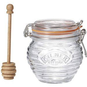 Банка для меда с ложкой Kilner Glass Honey Pot Set