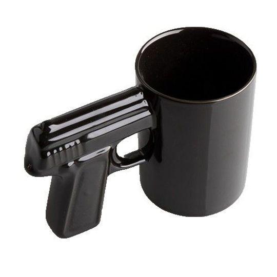 Кружка Пистолет Черная