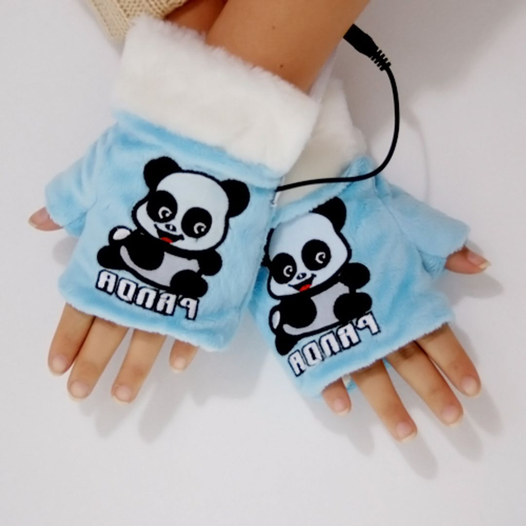 Перчатки с подогревом от USB Панда