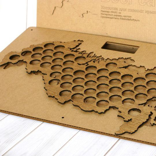 Карта для пивных крышек (Beer cap map)