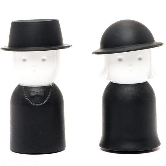 Солонка и перечница Mrs. Salt & Mr. Pepper (Черный)