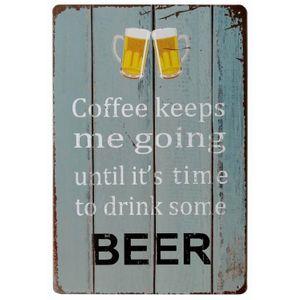 Металлическая табличка Coffee Keeps Me Going