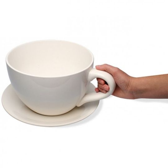 Чашка с блюдцем Гигант