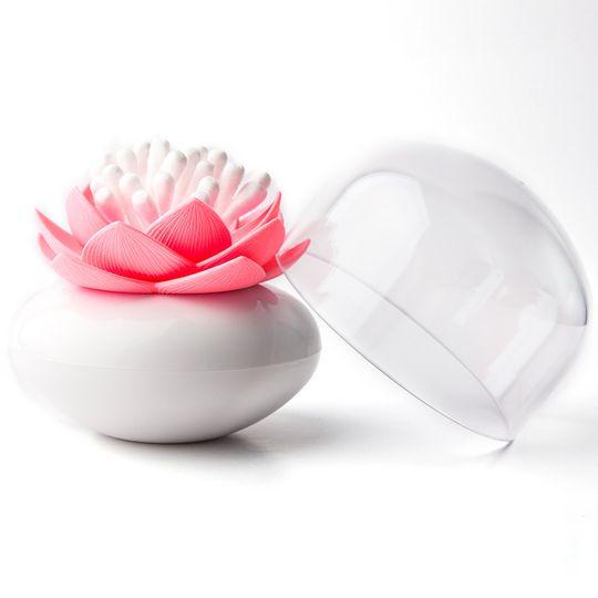Контейнер для ватных палочек Лотос Lotus cotton bud (Розовый с белым)