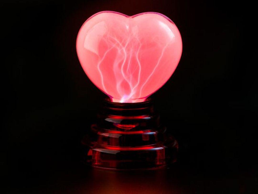 USB Плазменное Сердце Розовое