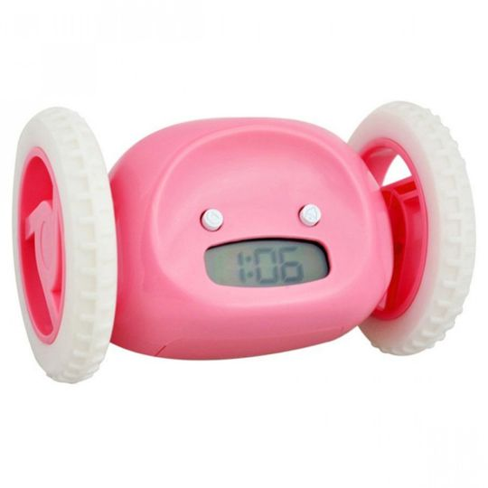 Убегающий будильник Clocky (Розовый)