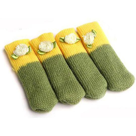 Носочки для стула (Зеленый с желтым)