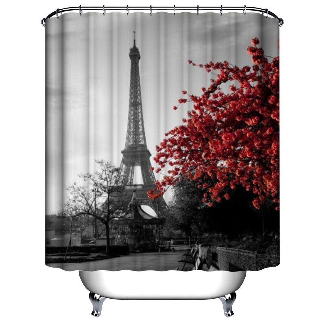 Шторка для ванной Париж