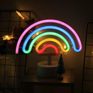 Неоновый светильник Радуга