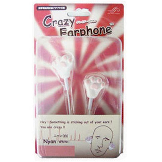 Crazy Earphones Наушники Кошачьи лапки