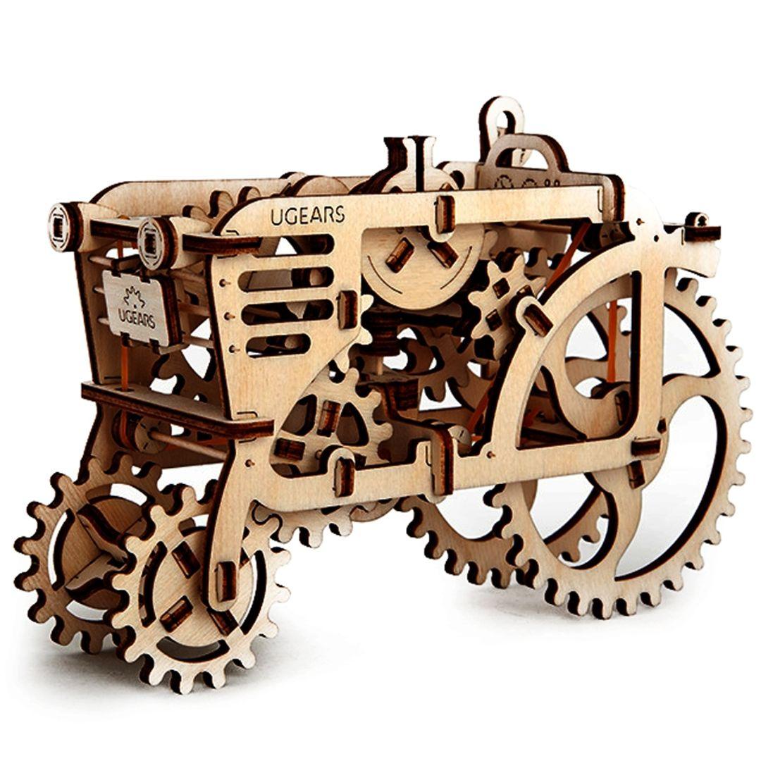 Механический 3D Пазл Ugears Трактор Заводная игрушка