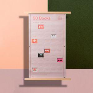 Плакат 50 книг, которые нужно прочитать в жизни