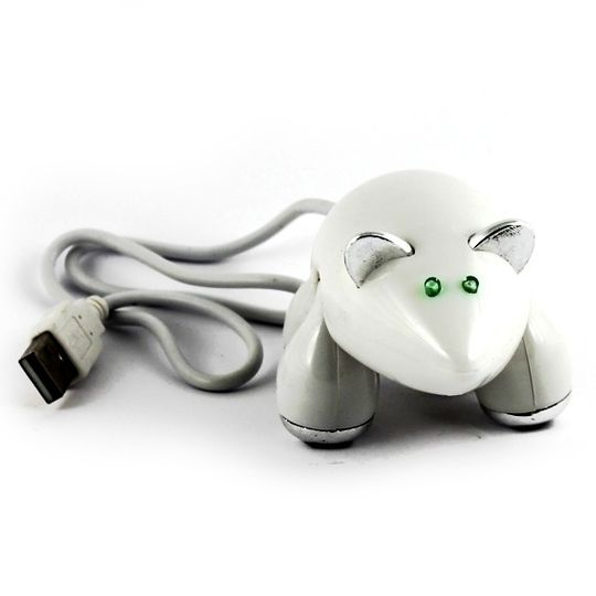 USB Хаб Мышь (Белый)