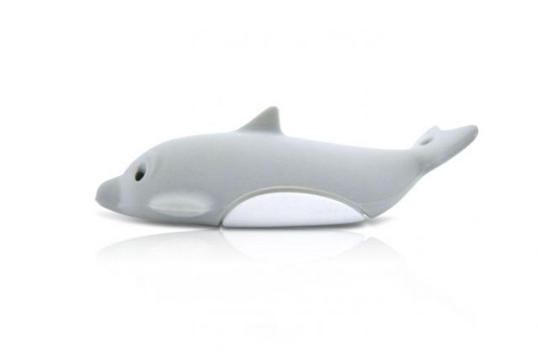 Флешка Дельфин Серый 4 Гб