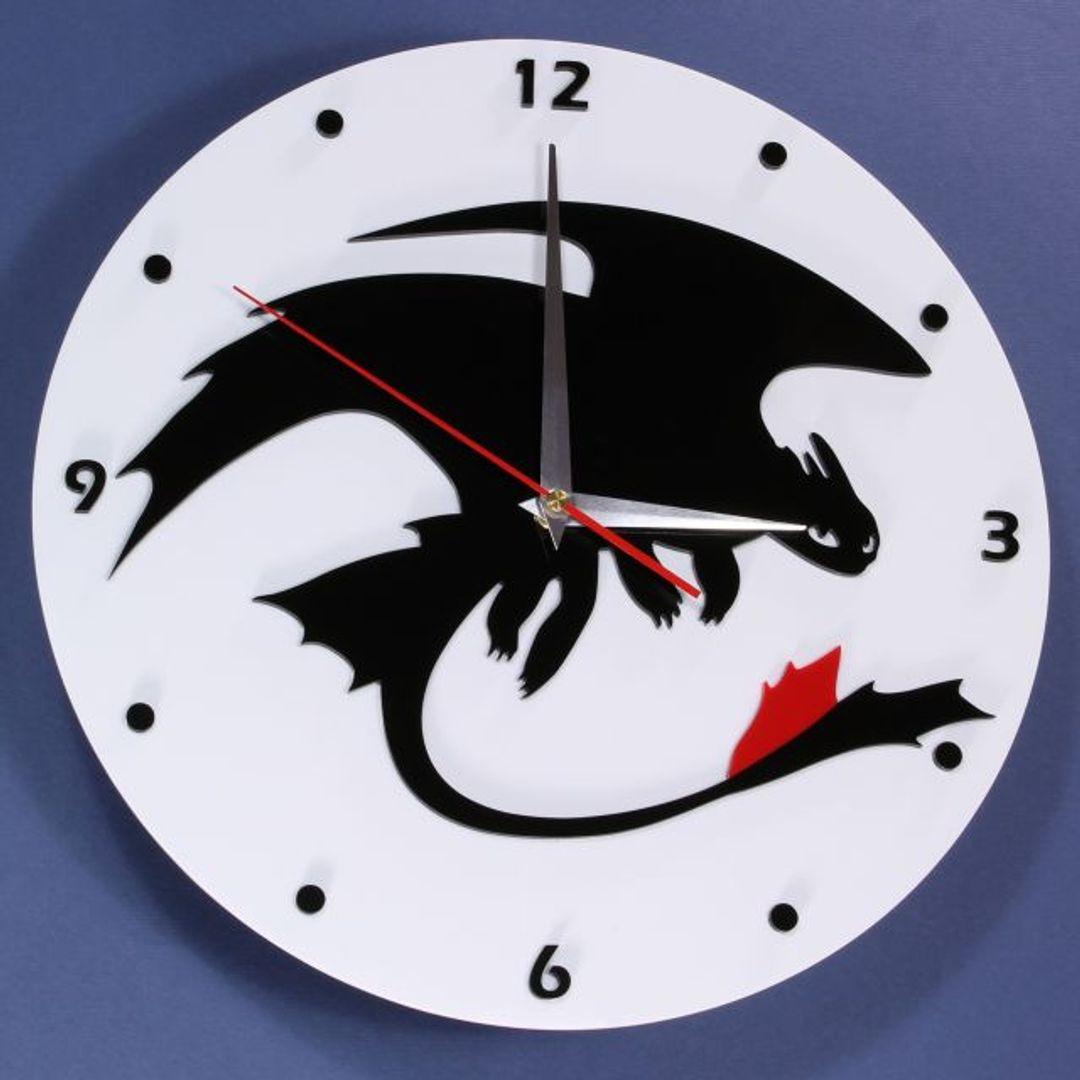 Часы настенные Беззубик How to train your dragon