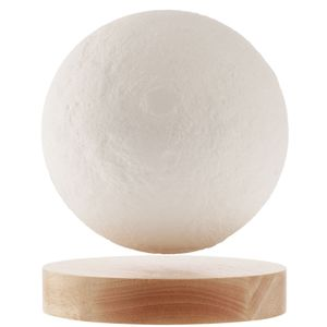 Левитирующая луна над деревянной подставкой 14 см