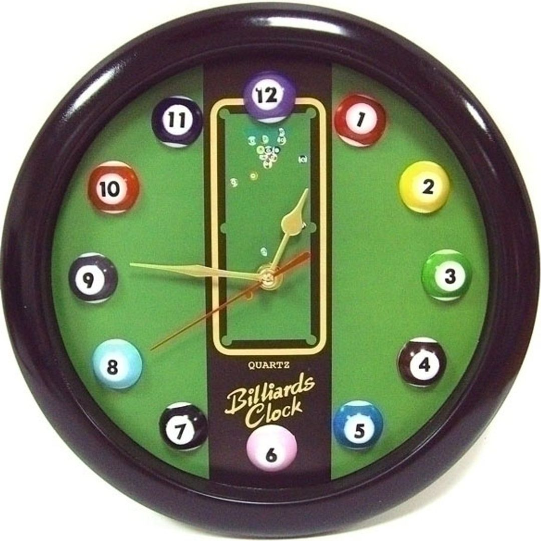 Часы настенные Бильярд