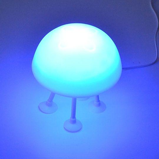 Светильник Медуза на присосках Синяя подсветка