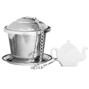 Заварник для чая с блюдцем