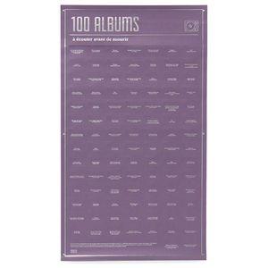 Плакат 100 альбомов, которые ты должен послушать в жизни