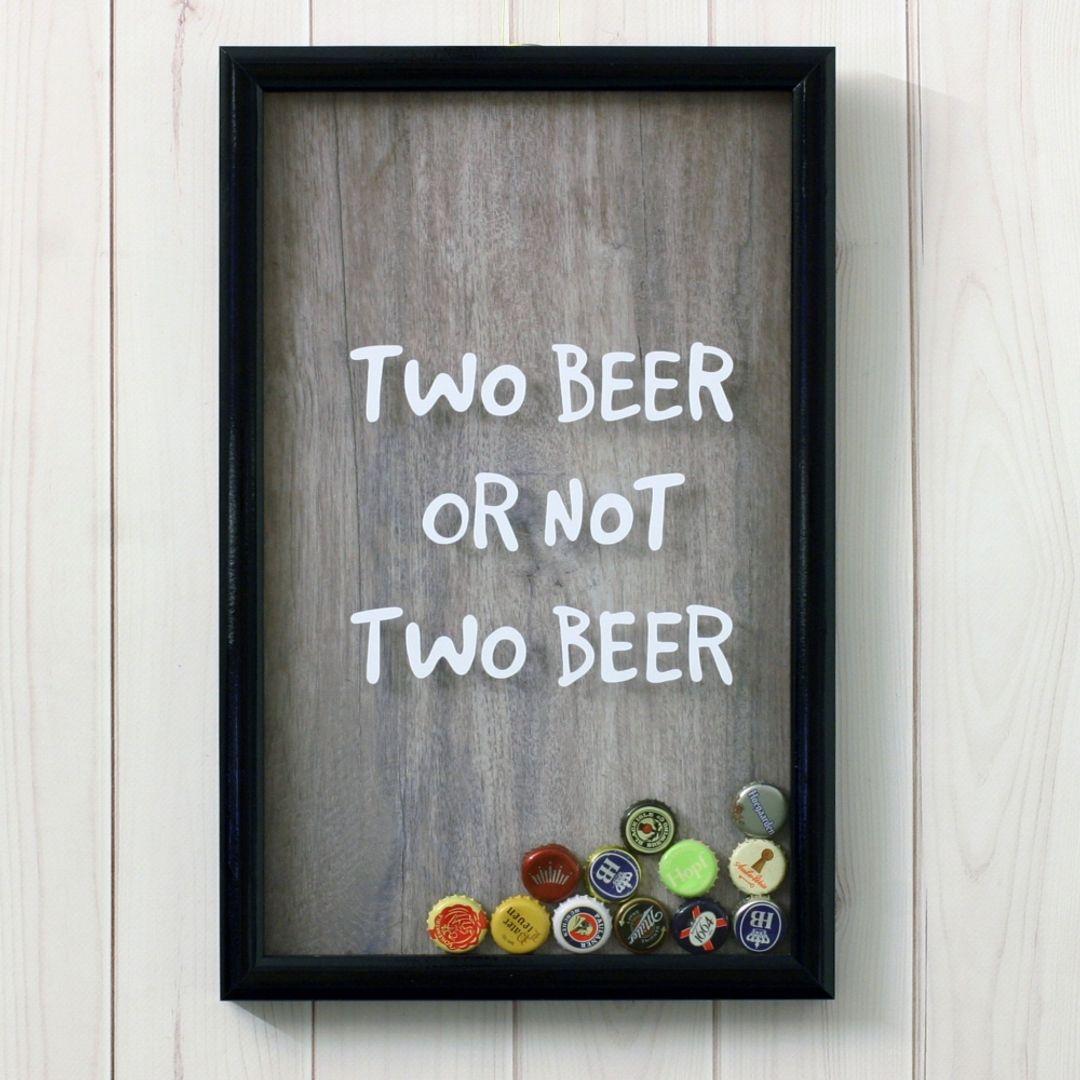 Копилка для пивных крышек и пробок Two beer