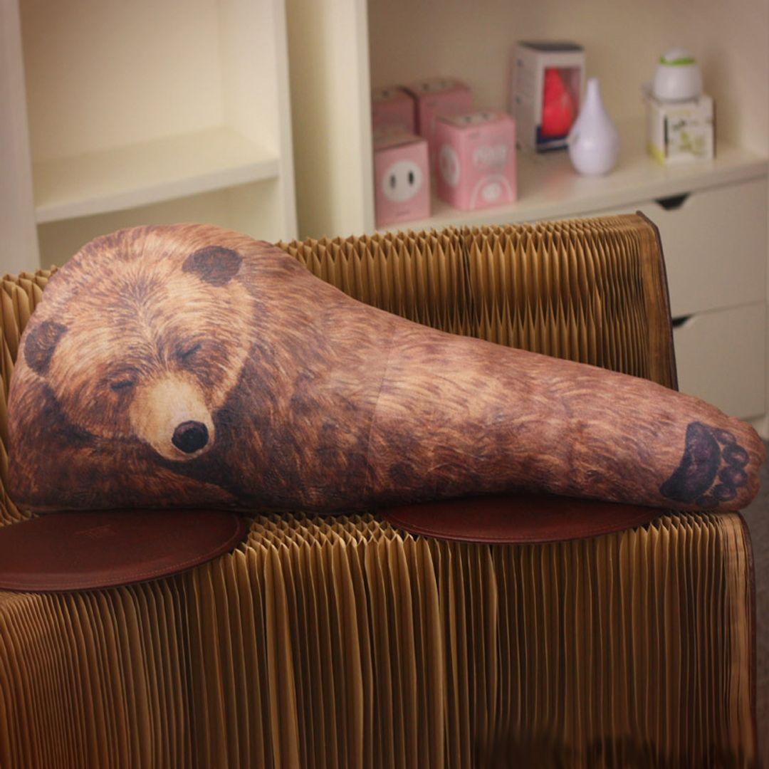 Подушка Рука медведя Bear Hug Pillow В интерьере