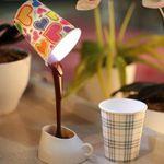 Светильник Выливающийся кофе В интерьере
