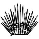 Наклейка для унитаза Железный трон