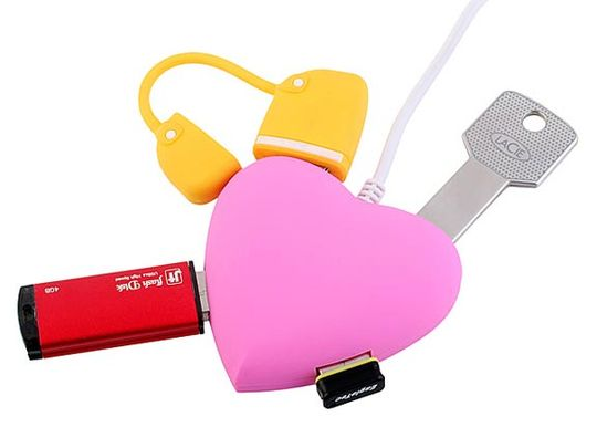 USB Хаб Сердечко