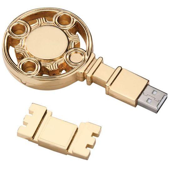Флешка Золотой ключик 8 Гб Со снятой крышкой