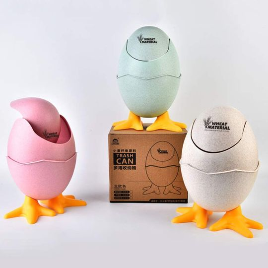 Настольный контейнер для мусора Яйцо