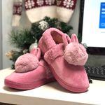 Тапочки с подогревом от USB Заячьи ушки (розовые)
