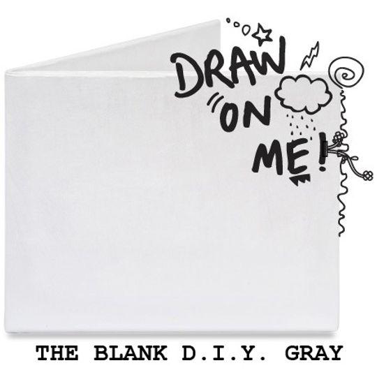 Бумажный Бумажник Mighty Wallet The Blank D.I.Y. Gray