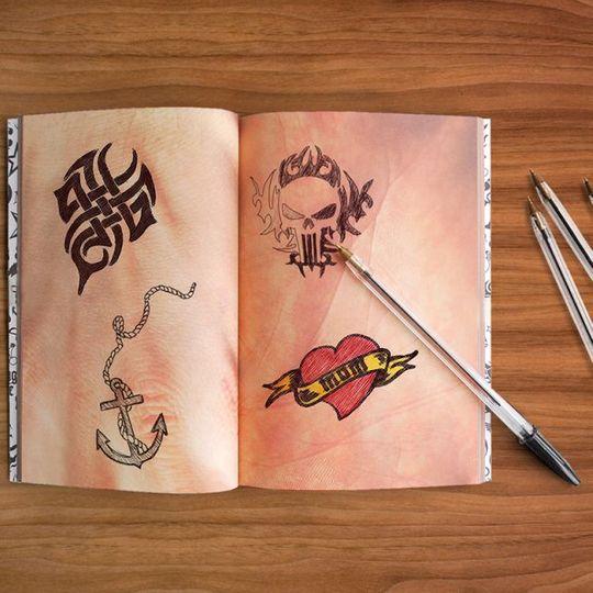 Блокнот татуировщика Tatoo Notebook