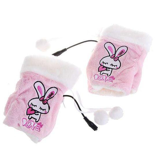 Перчатки с подогревом от USB Кролик