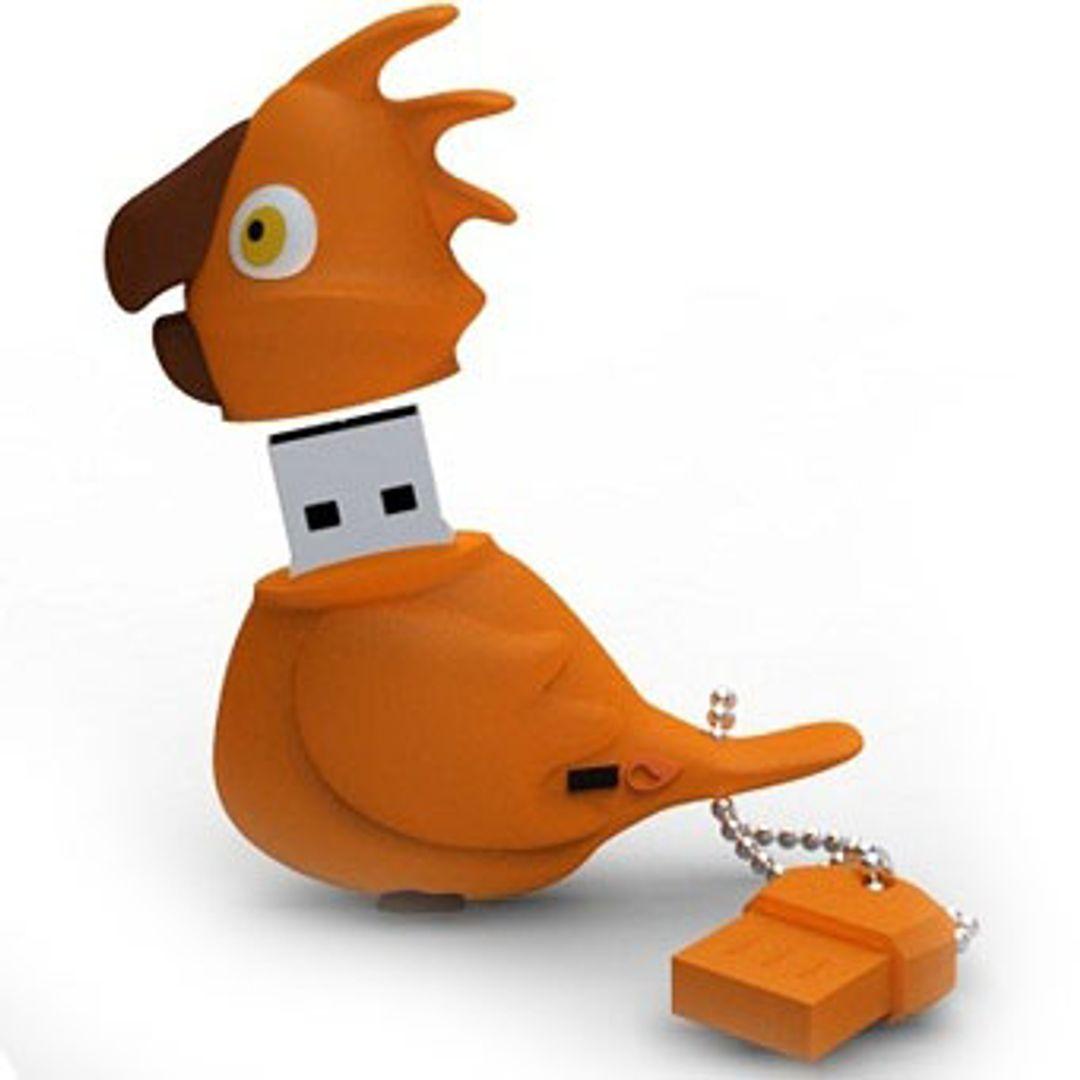 Флешка Попугай 8 Гб (Оранжевый)