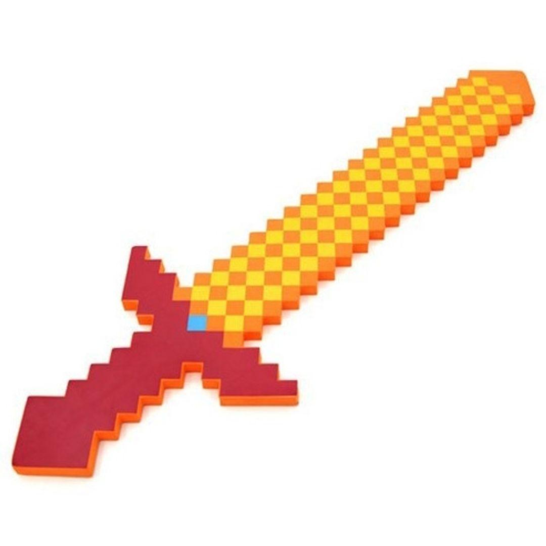 Огненный меч Minecraft Толщина 1,5 см