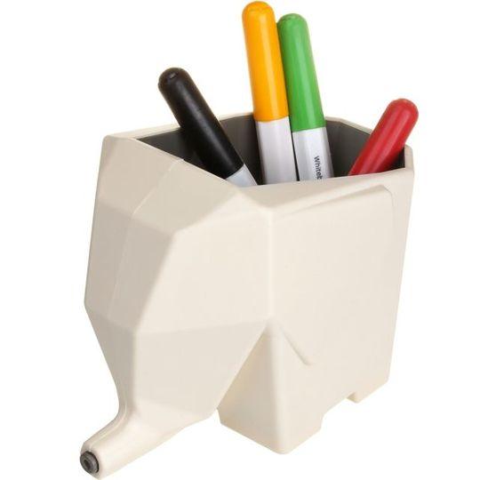 Горшок Слон (Белый) С маркерами