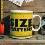 Гигантская кружка Size Matters С рулеткой для масштаба