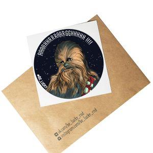Стикер Star Wars Чубакка