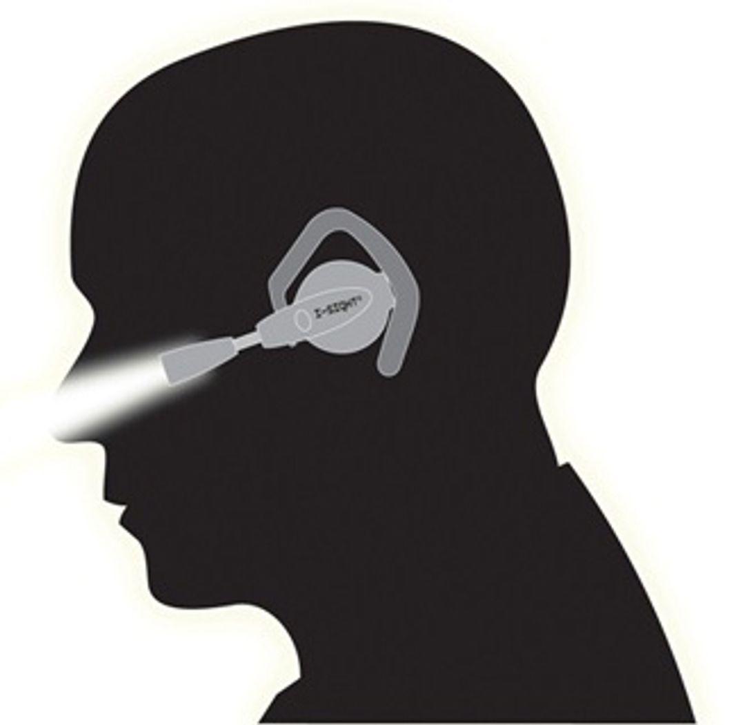 Фонарик на ухо