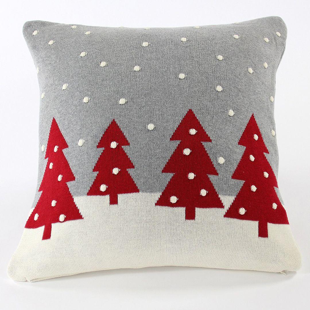 Подушка с орнаментом Christmas story one
