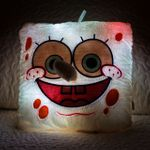 Светящаяся подушка Губка Боб