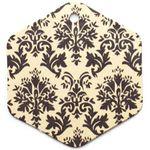 Бирка упаковочная Барокко — бежевый шестигранник