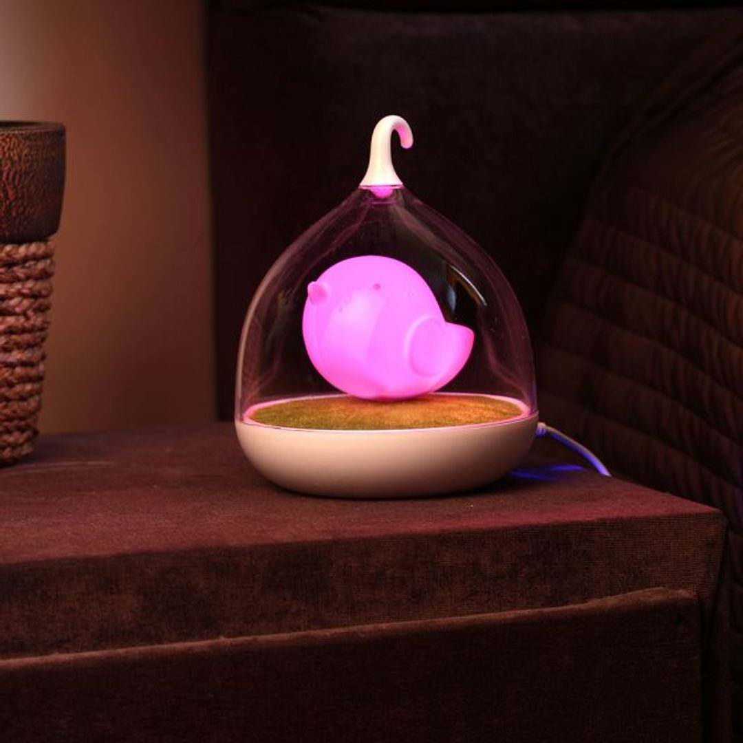 USB Лампа Птичка (Розовая)